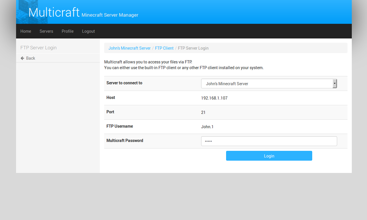 Multicraft The Minecraft Hosting Solution Userguide Site - Minecraft server webinterface erstellen